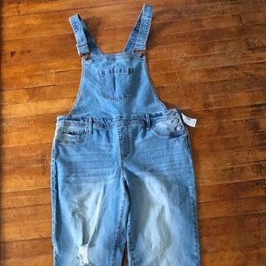 Maurice's cropped overalls NWT